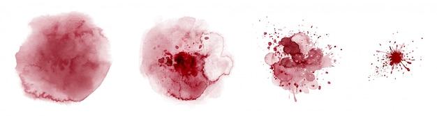 Satz handgemalte aquarellkreise bunte verschiedene formen