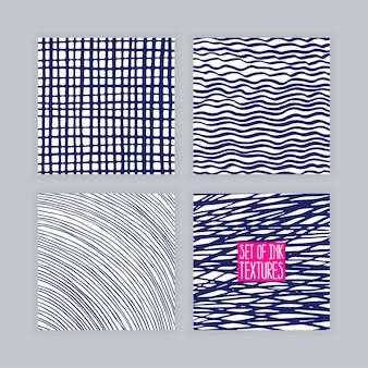 Satz handgezeichnete texturen. sammlung von designelementen