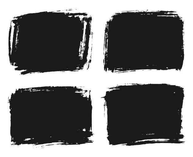 Satz handgezeichneter rahmen