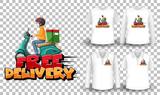 Satz hemd mit lieferungsthema