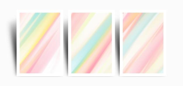Satz hintergrund mit bunter marbel pastellfarbe