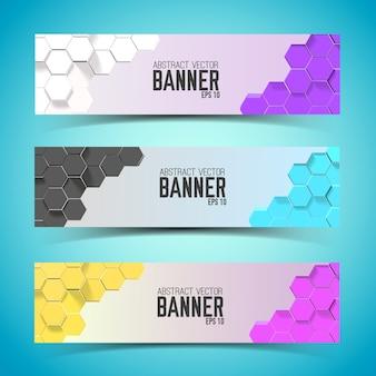 Satz horizontale abstrakte banner