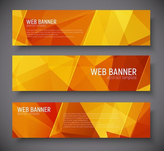 Satz horizontale banner standardgröße.