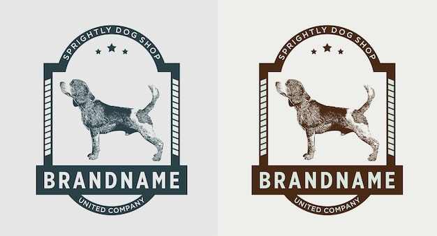 Satz hund vintage logo