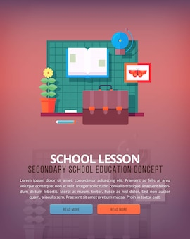Satz illustrationskonzepte für schulunterricht und klassenzimmer. illustrationen zu bildungs- und wissenschaftskonzepten.