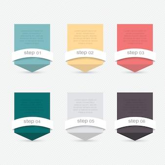 Satz infographics elemente in der modernen flachen geschäftsart.