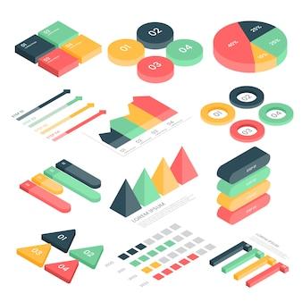 Satz isometrischer infografiken