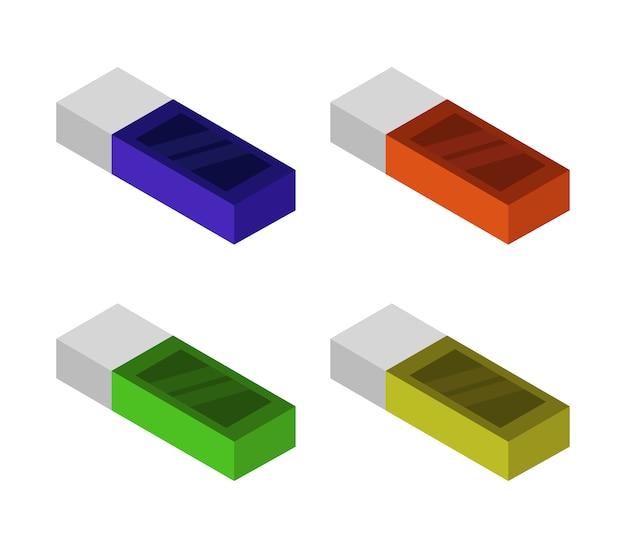 Satz isometrischer radiergummis