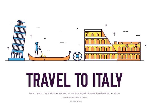 Satz italienlandverzierung