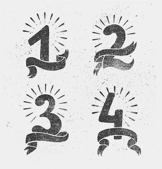 Satz jubiläumsnummern