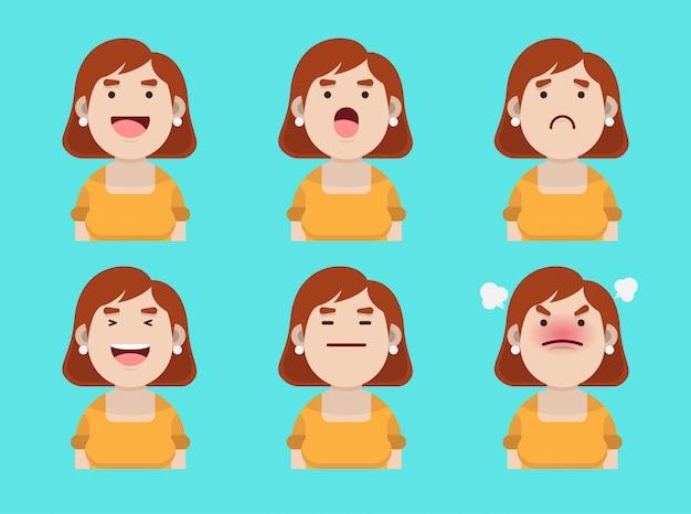 Satz junger dame avatar