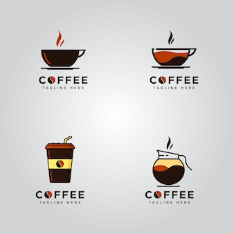 Satz kaffee-logos