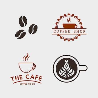 Satz kaffeeelemente und kaffeezubehörvektor