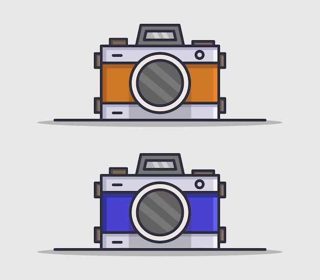Satz kameras im flachen stil
