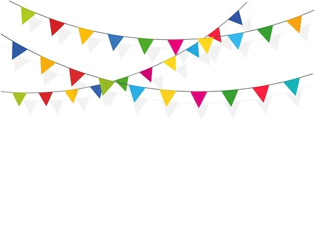 Satz karneval, flaggengirlanden für einen feiertag