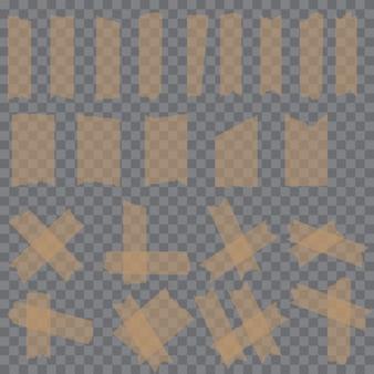 Satz klebrige kleber-klebebandstücke
