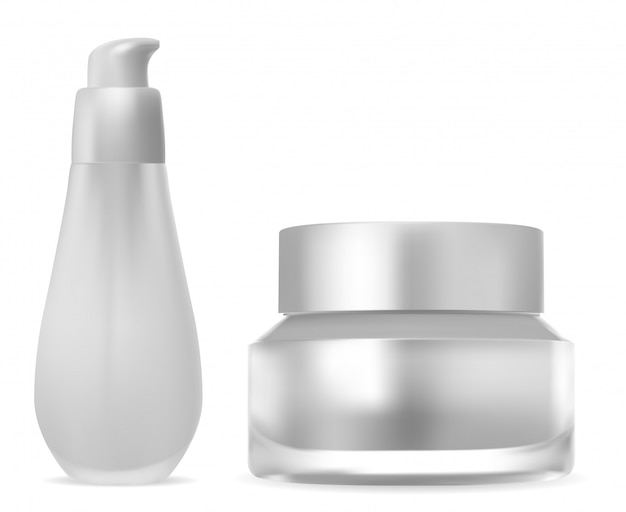 Satz kosmetische produktverpackung.