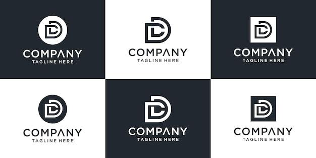 Satz kreative monogrammbuchstaben-dc-logo-vorlage.