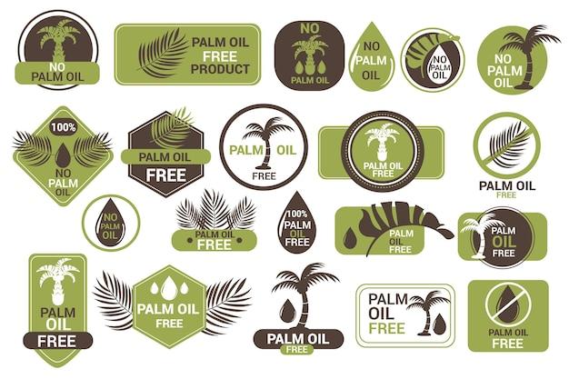 Satz kreative palmölabzeichen