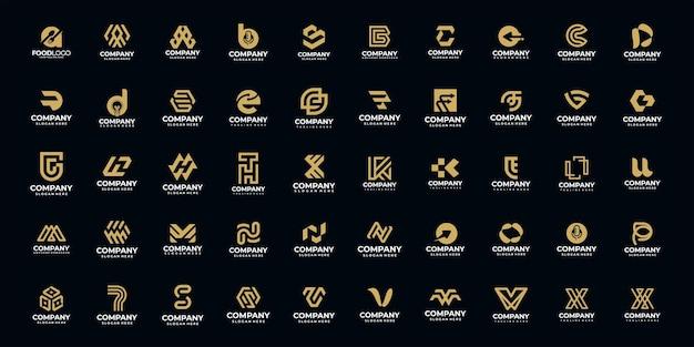 Satz kreativer initialen von a bis z, monogramm-logo-design