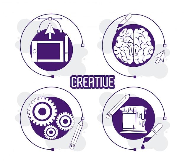 Satz kreatives design