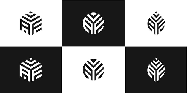 Satz kreatives logo-design