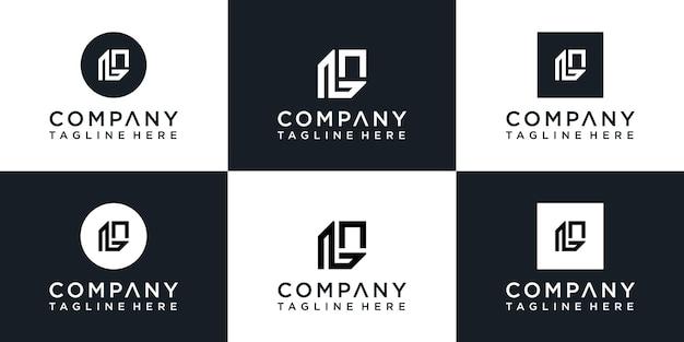 Satz kreatives monogrammbuchstabe-l-logo