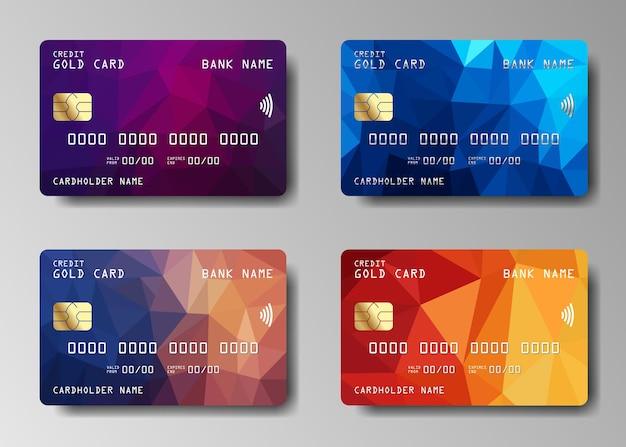 Satz kredit- oder debitkarte. kreditkarten-design.