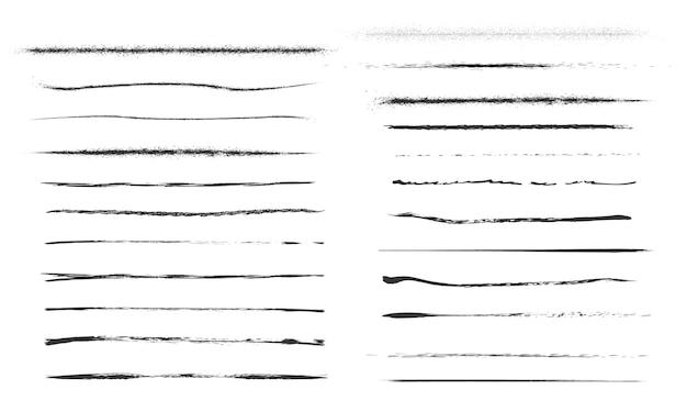 Satz künstlerischer stiftbürsten. doodles tintenpinsel