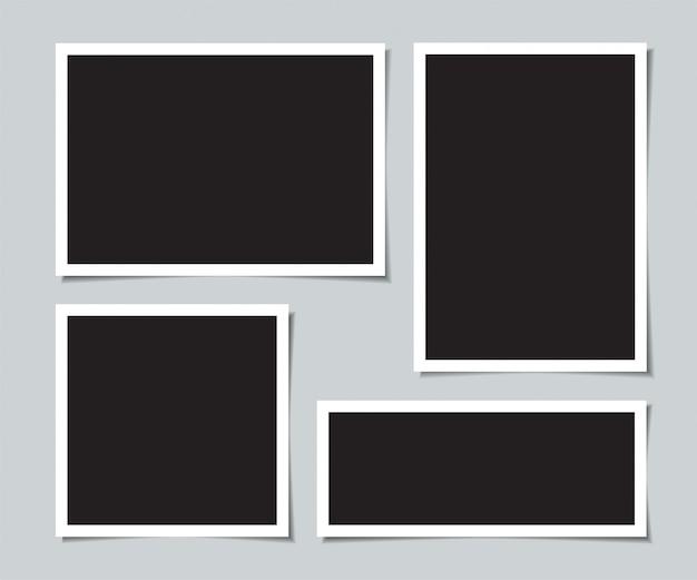 Satz leere fotos für collage.