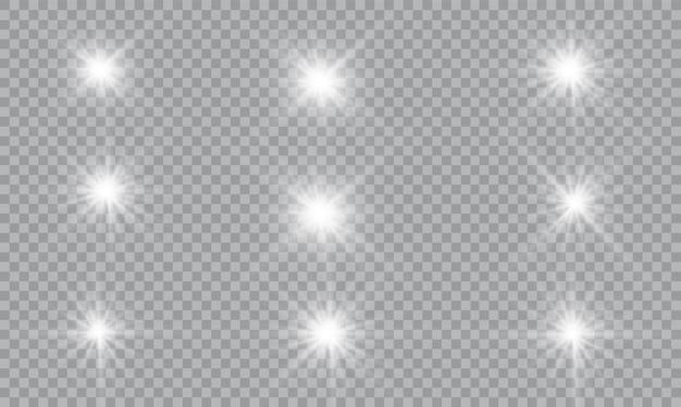 Satz leuchtende lichtsterne.