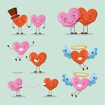 Satz liebesherz-valentinsgrußtag