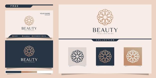 Satz logo-design und visitenkarte
