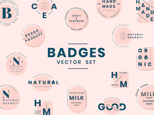 Satz logoausweis-designvektoren