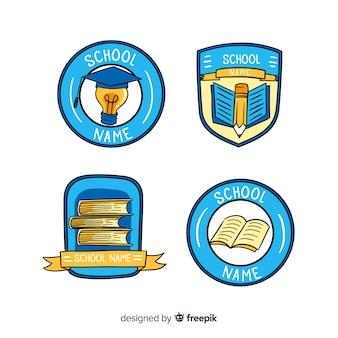 Satz logos oder abzeichen für schulen oder privatlehrer