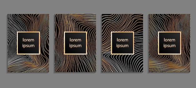 Satz luxus-cover-vorlagen.