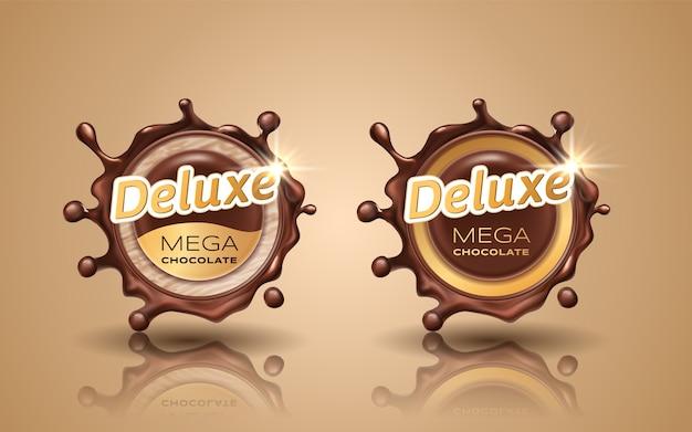 Satz luxus-design-etiketten in goldfarbe lokalisiert auf hintergrund