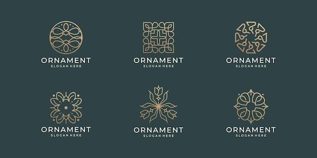 Satz luxus-ornament-logo der sammlung
