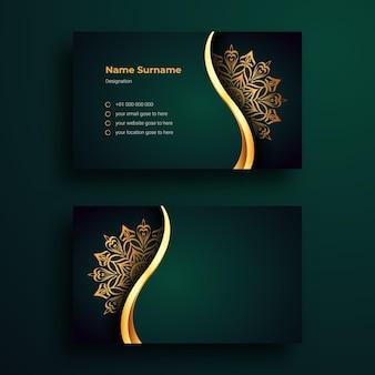 Satz luxus-visitenkarten-design