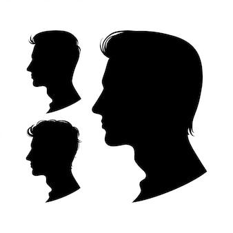Satz männerprofile