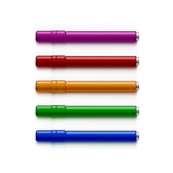Satz marker, textmarker, filzstifte