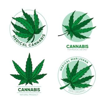 Satz medizinische cannabisabzeichen