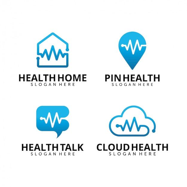 Satz medizinische logo-entwurfsschablone