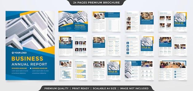 Satz mehrzweck-bifold-broschürenschablonendesign mit modernem layout für die präsentation und den vorschlag von unternehmen