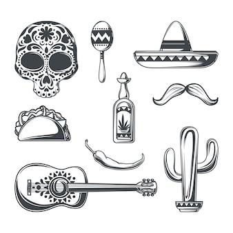 Satz mexikanischer elemente