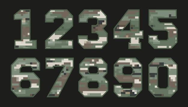 Satz militärische tarnnummern