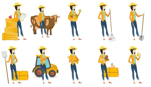 Satz mit landwirtcharakteren
