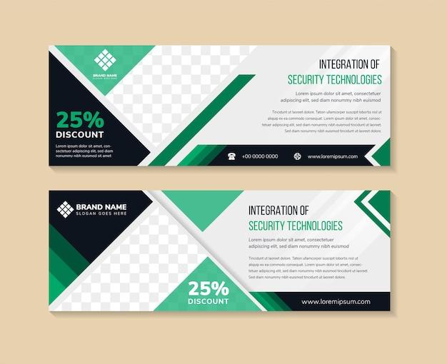 Satz moderne design-banner-vorlage mit abstrakten dreieckselementen grauem hintergrund mit farbverlauf
