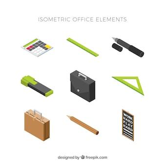 Satz moderne elemente mit isometrischer ansicht