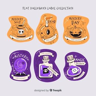Satz moderne halloween-ausweise